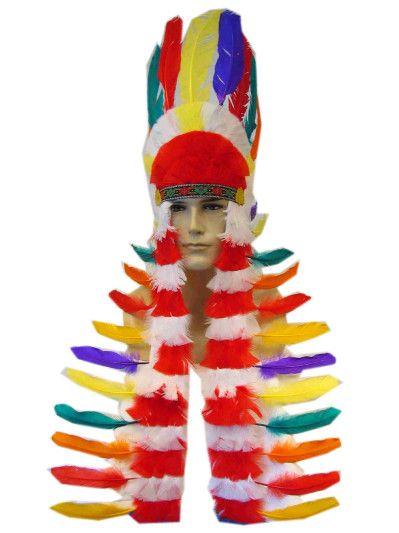 Indian Kopfbedeckung mit zwei langen Schwänzen