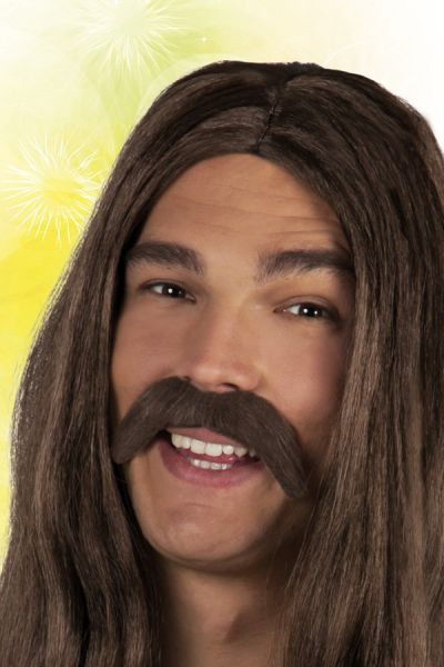 Braune Schnurrbart Hippie