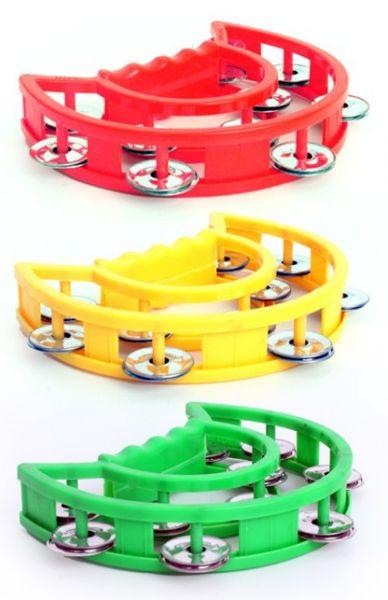 6 Tamburine rot gelb grün