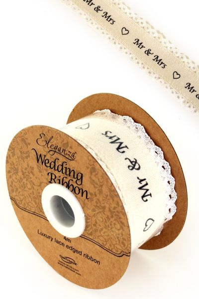 Eleganza Hochzeitsband Baumwollspitzenkante auf einer Rolle