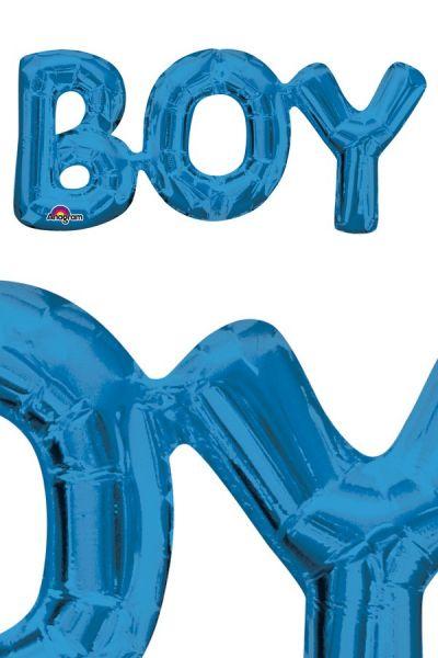 Folienballon Boy Blau