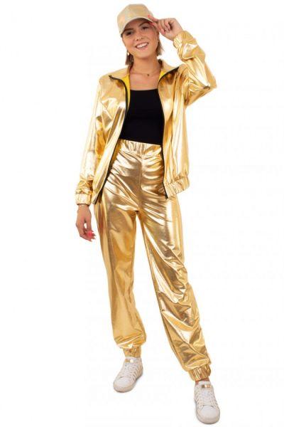 Golden 80er Jahre Trainingsanzug Damen