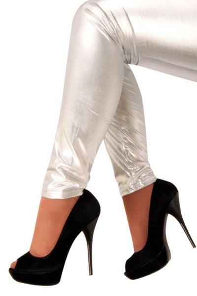 Legging metallisches Silber