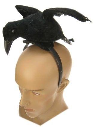 Halloween Diadem schwarze Krähe