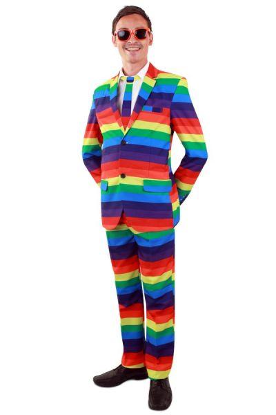 Bunter Regenbogen-Kostümmann