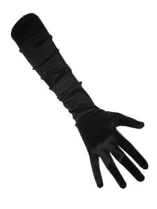 Schwarze Satinhandschuhe