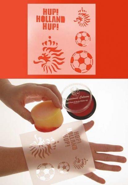 Schminkvorlage Fußball 12x13cm Holland