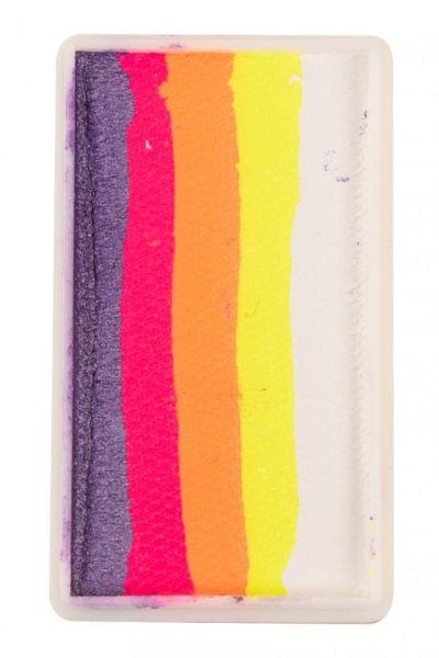 PartyXplosion Split Cake Perl violett Neon Rosa Orange Gelb Weiß