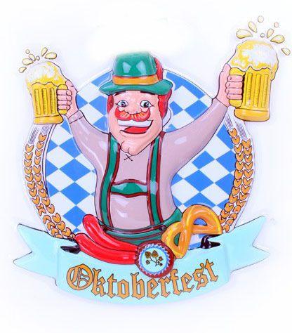 Oktoberfest Mann mit Bierkrüge Deco 6 Stück