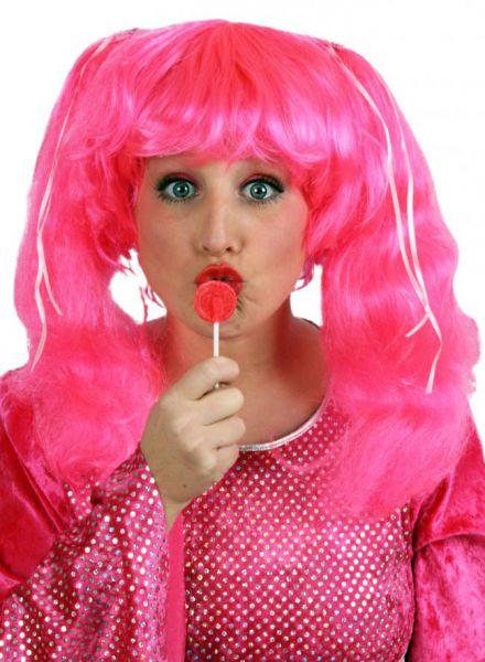 Candy rosa Fasching perücken