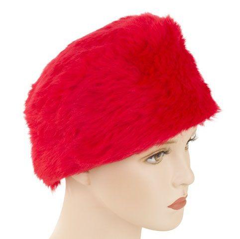 Pelzmütze in der Farbe Rot
