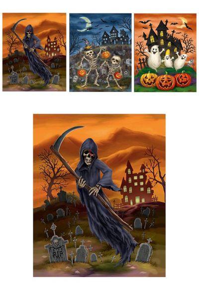 Horror Halloween 3 D Fensteraufkleber