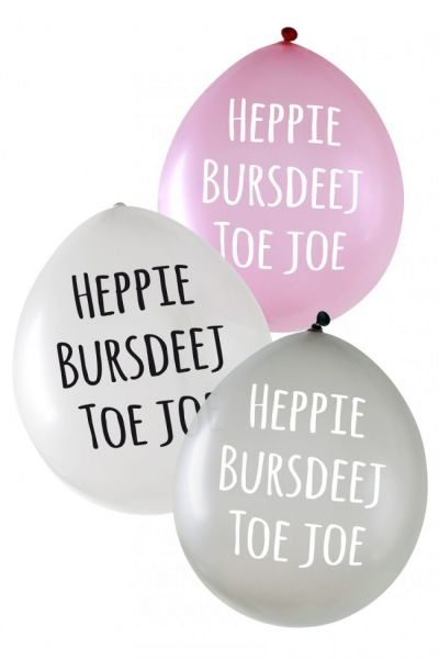 Metallic-Ballons Heppie Bursdeej pro 24 Stück