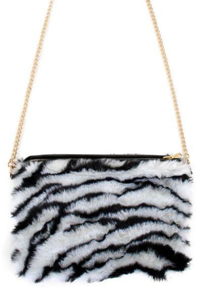 Zebra Tasche Plüsch