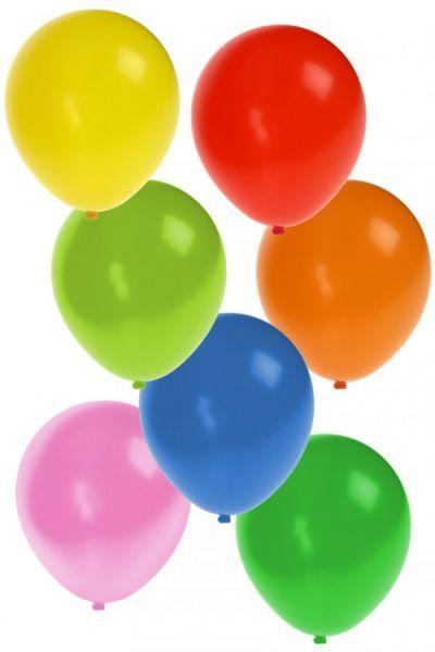 Farbige Heliumballons nr 12 sortiert