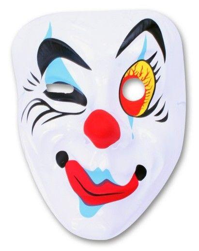 Maske Pierrot zwinker