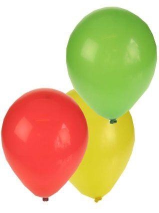 Luftballons rot gelb grün Karneval