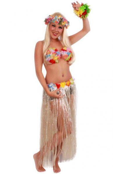 Hawaiianische langen Rock mit farbiger Blumen