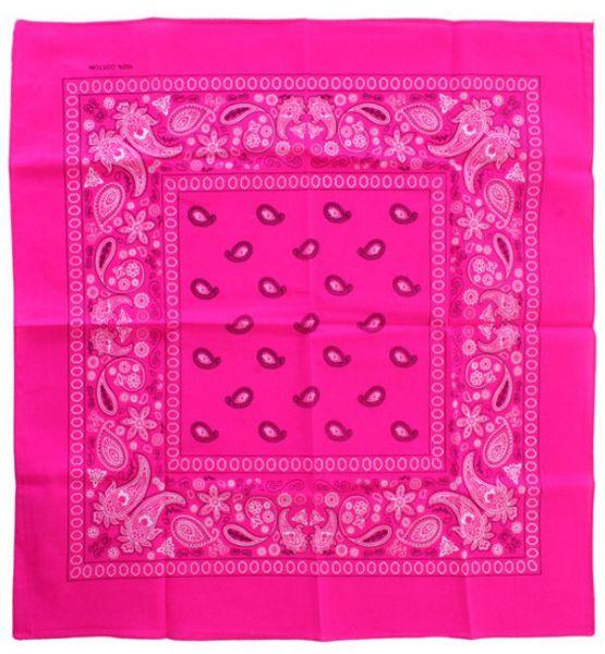 Fluor rosa Taschentücher Bandana mit Muster