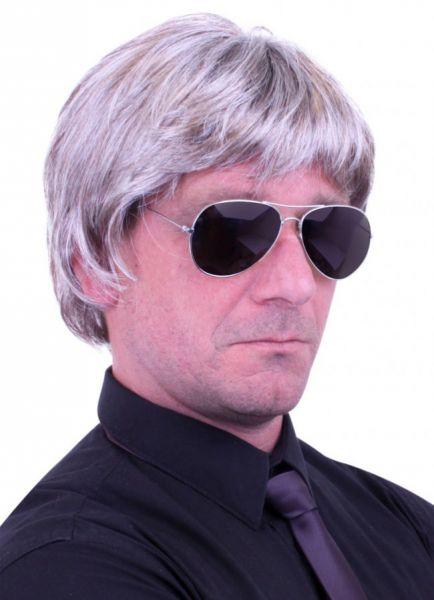 Herren Perücke graue Haare