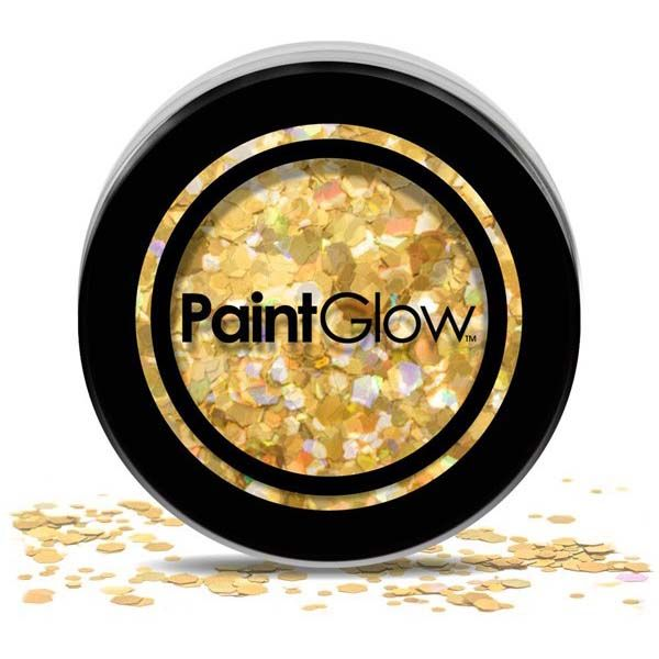 Chunky cosmetic glitters Gold Digger PaintGlow