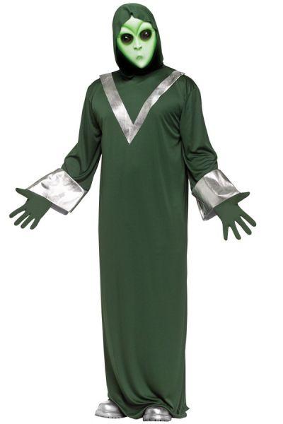 Grünes Alien-Kostüm