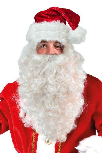 Weihnachtsperücke mit Bart
