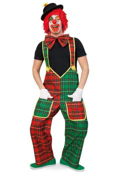 Latzhose Clown rot grün