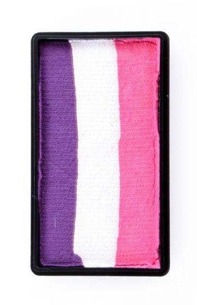 One Stroke Split Cake Schminkfarben weiß lila rosa PartyXplosionn