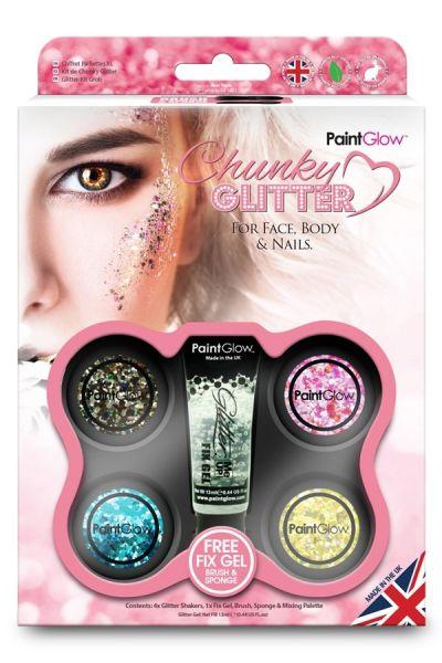Paintglow Chunky Glitter Box Pink