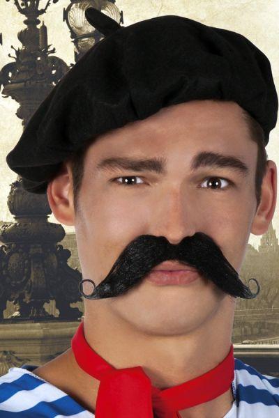Schnurrbart Franzose schwarz