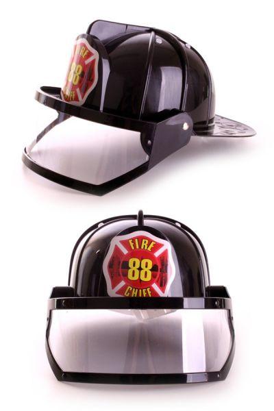 Kunststoff Feuerwehrhelm schwarz