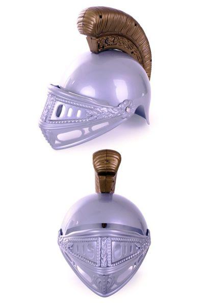 Plastic Ritterhelm Silber Gold Kind