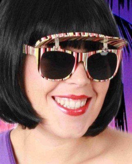 Lustige Brille Farbstreifen mit Markise