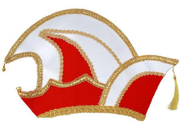 Prinz Karneval Mütze rot Samt