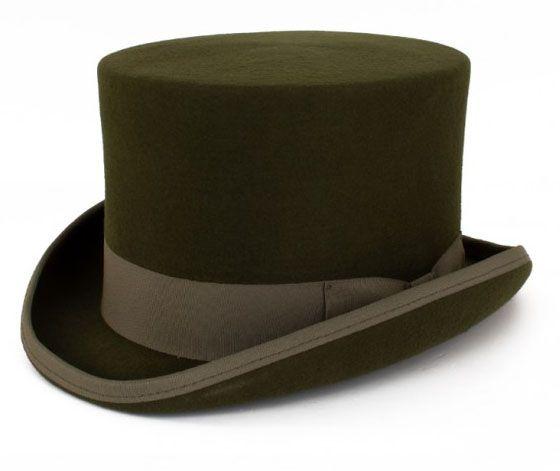 Grüner Zylinder Hut