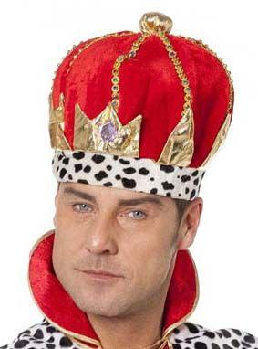 Roter Stoff König Krone