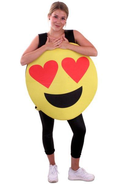 Smiley Emoticon Herzen Augen Kostüm Imoji