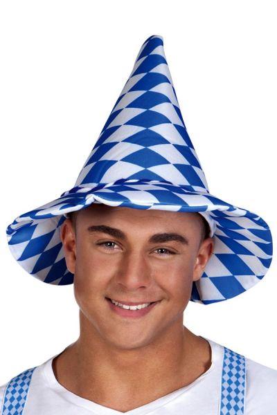 Oktoberfest Bayern Hut blau weiß