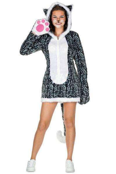 Sexy Kleid graue Katze