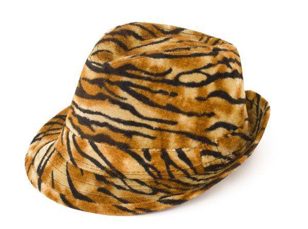 Gangster Zuhälter Tiger Print Hut