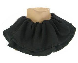 Trevira-Kragen schwarz