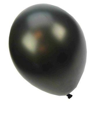 Qualitätsballon metallic schwarz 36cm