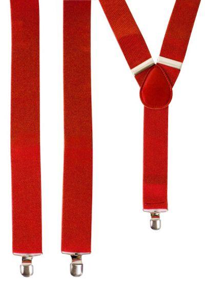 Hosenträger färben rot