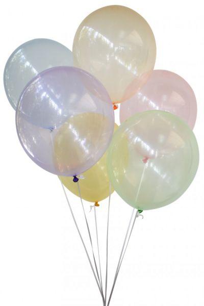 Seifenblasen Ballons transparent farbig sortiert