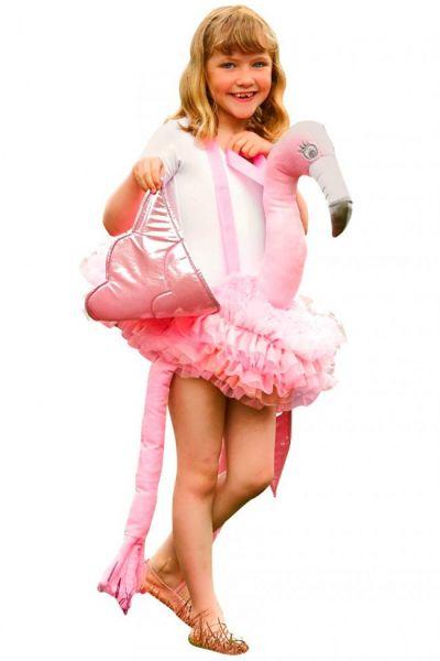 Piggypack Ritt auf Flamingo Kind