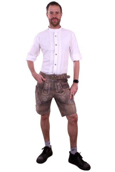 Oktoberfest Tiroler Herrenhemd Bluse weiß Luxus