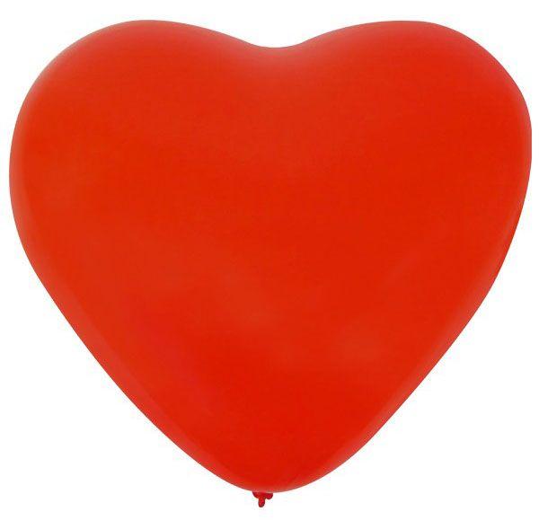 Ballonherz x 36 Rot 32 cm