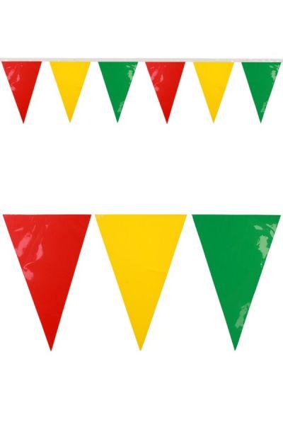 Miniflaggenlinie rote Gelb grün Fasching feuerfest 24m