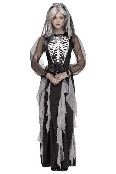 Halloween Skelett Hochzeitskleid